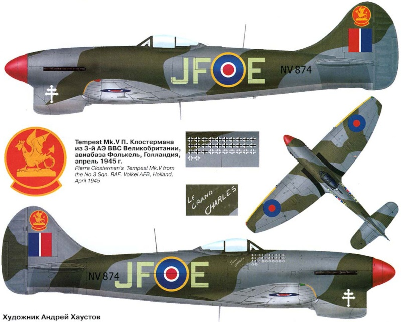 Hawker tempest Mkv (kit heller 1/72- avion de Pierre CLOSTERMAN) 9_4810
