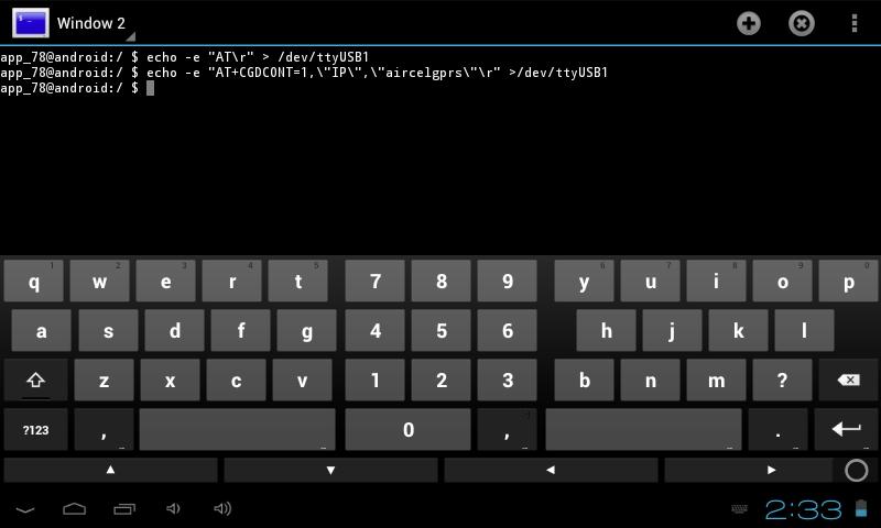 Configurer  tablette avec Modem 3g (n'importe lequel) Pic810