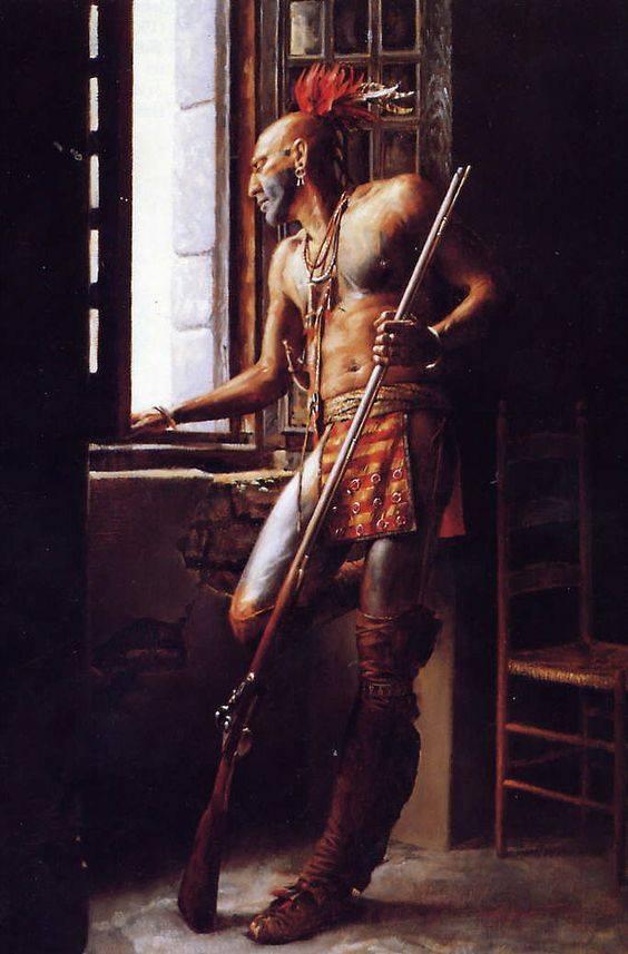 Iroquois, Fort Niagara 1759 - ROMEO MODELS - 75mm Guerri10