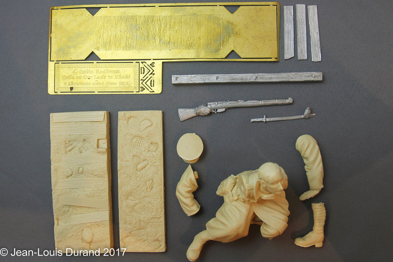 Avant la bataille d'Arras, mars 1917 - Soldat de la 35ème Division - Figurine résine David J. Parki Img_7911
