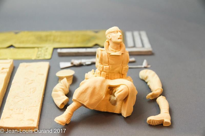 Avant la bataille d'Arras, mars 1917 - Soldat de la 35ème Division - Figurine résine David J. Parki Img_7912