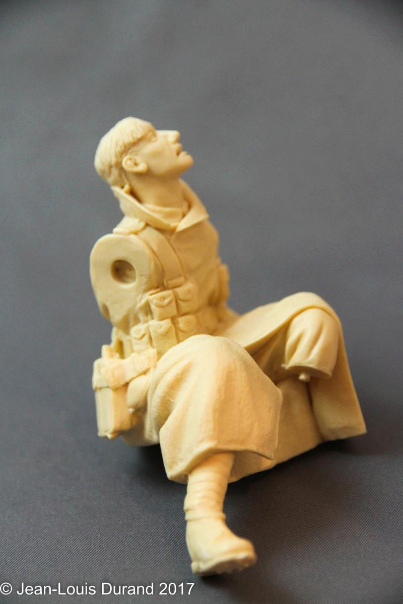 Avant la bataille d'Arras, mars 1917 - Soldat de la 35ème Division - Figurine résine David J. Parki Img_7913