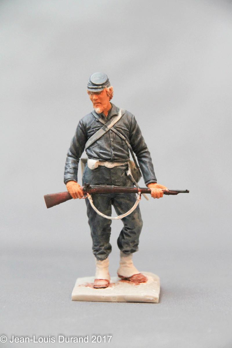 Soldat confédéré - GRX Diffusion - Résine 75mm - Acryliques Img_7921
