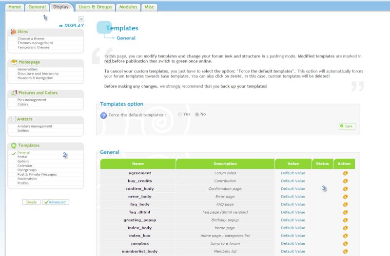 [Nuova Opzione] Modifica Template per le versioni phpBB3 e Invision Homepa10