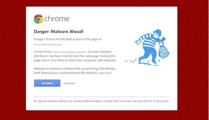 Google Chrome Alert: verificare la sicurezza del tuo forum Page_m12
