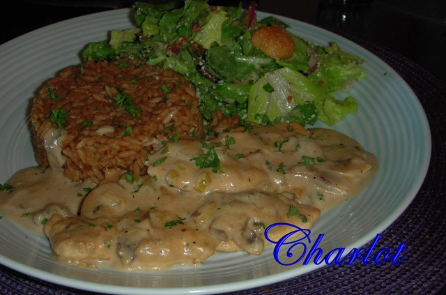 Filet de poulet aux champignons et à la crème Filet_12