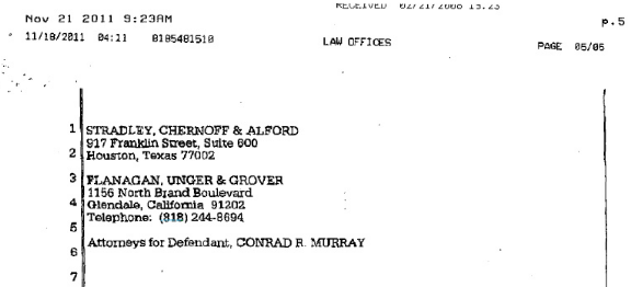 Information about Conrad Murray futher trial and sentece Cm610