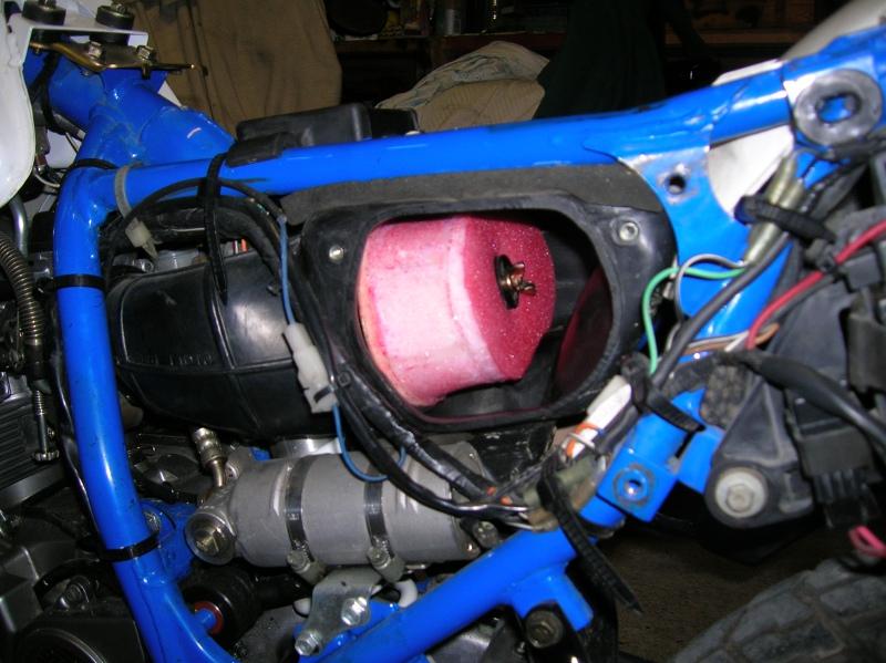 creazione filtro aria artigianale in spugna Dscn6415