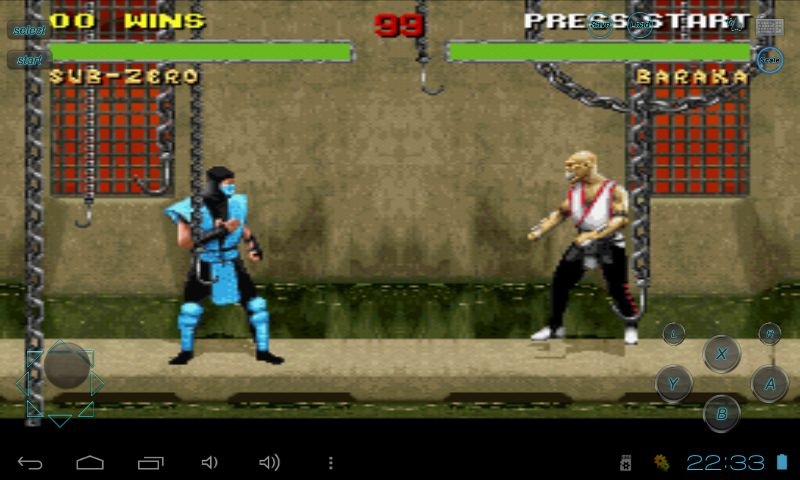 Смертельная битва на андроиде Mortal10