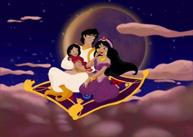 Les princesses (et héroines) Disney avec leur progénitures. Happil14