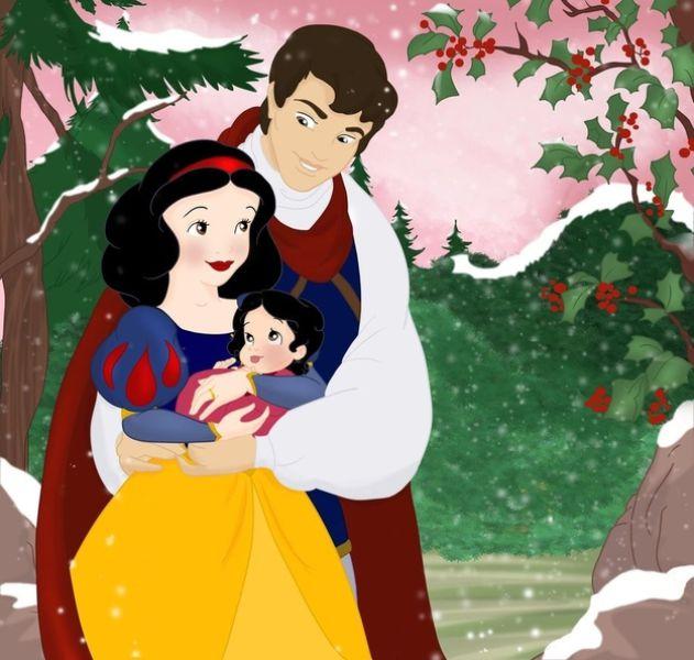 Les princesses (et héroines) Disney avec leur progénitures. Happil15