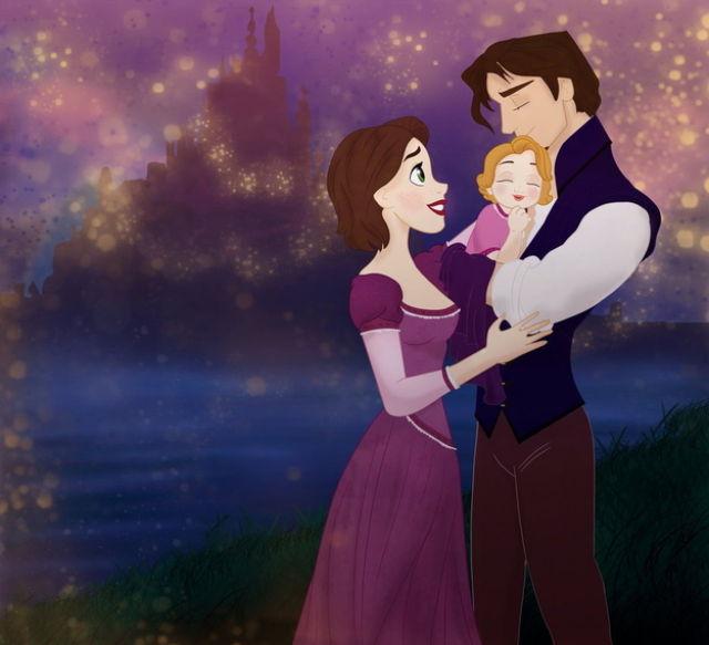 Les princesses (et héroines) Disney avec leur progénitures. Happil17