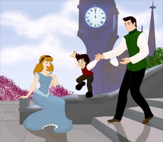Les princesses (et héroines) Disney avec leur progénitures. Happil23