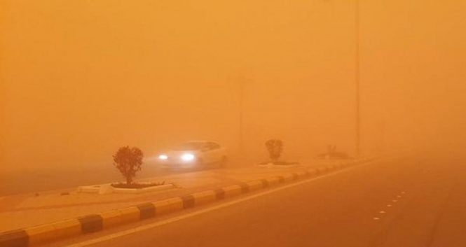 """الأرصاد """" تحذر المواطنين من عواصف ترابية وأمطار غداً الثلاثاء على تلك المحافظات 27456111"""
