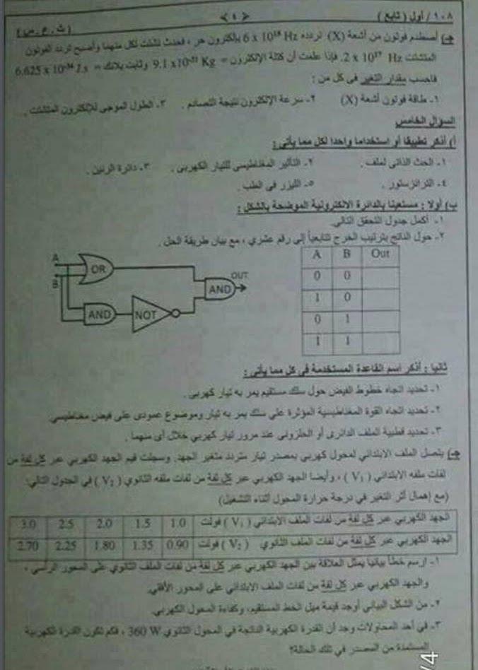 امتحان الفيزياء للصف الثالث الثانوي 2017 - السودان 433