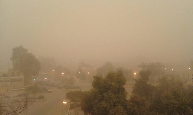 بالصور .. العواصف الرملية تضرب غرب مصر 720