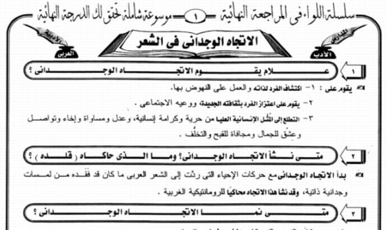 برنامج المراجعة النهائية فى اللغة العربية للصف الثالث الثانوى 2017 أ/ رضا الفاروق 8819