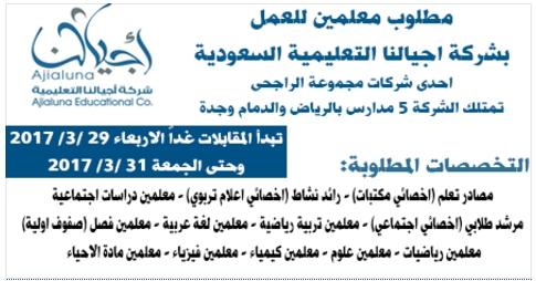 مطلوب معلمين جميع التخصصات للعمل بالسعودية...  تبدأ المقابلات من الغد الاربعاء 926