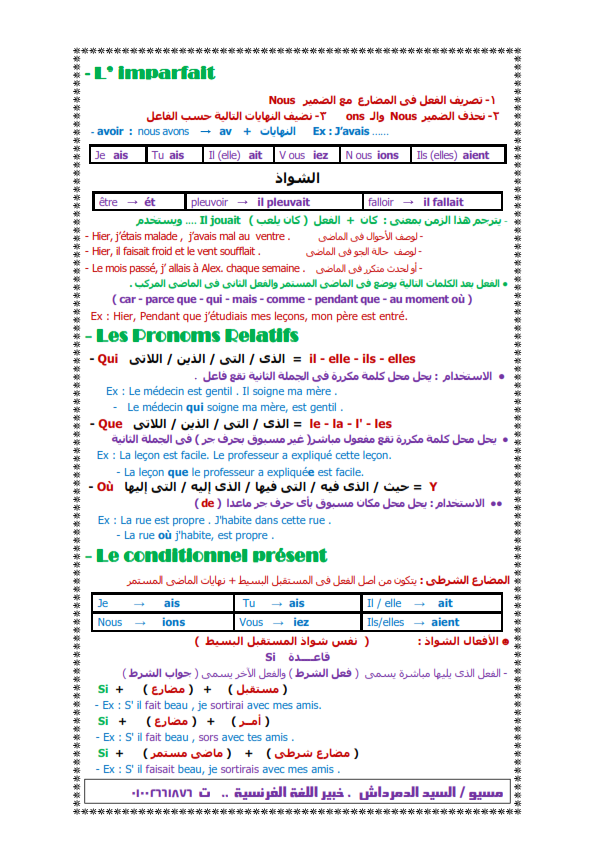 بالصور: ملخص قواعد اللغة الفرنسية لثالثة ثانوي 2017 في سبع ورقات Iu_oo_11