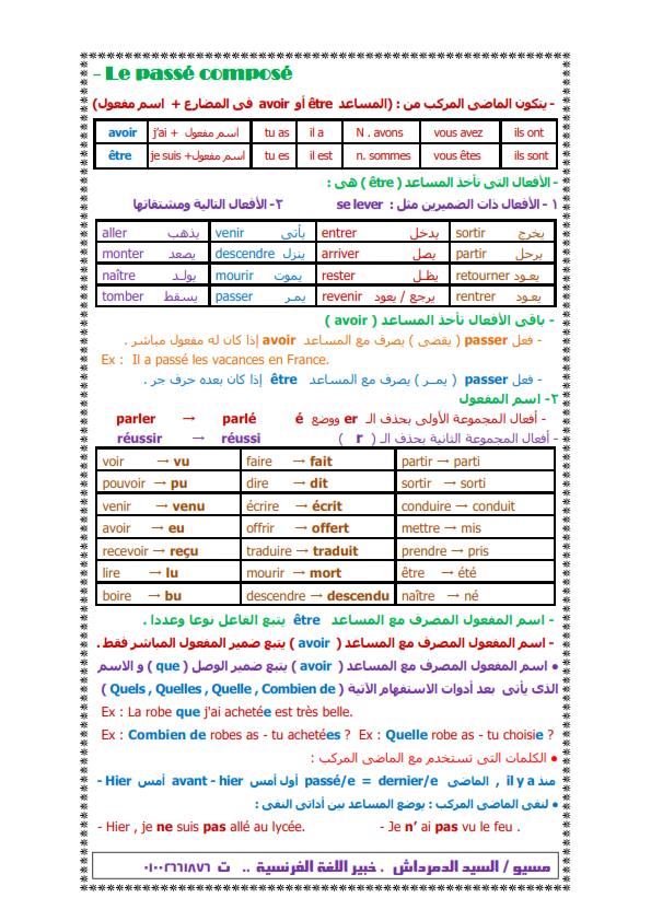 بالصور: ملخص قواعد اللغة الفرنسية لثالثة ثانوي 2017 في سبع ورقات Iu_oo_14