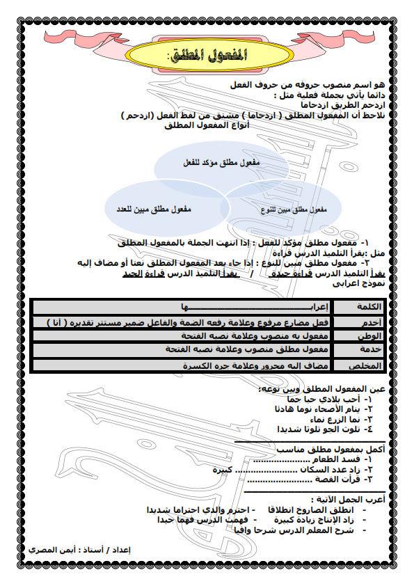 ملخص البسيط فى النحو 8 ورقات pdf للصف الخامس الابتدائي الترم الثاني Od_oa_10