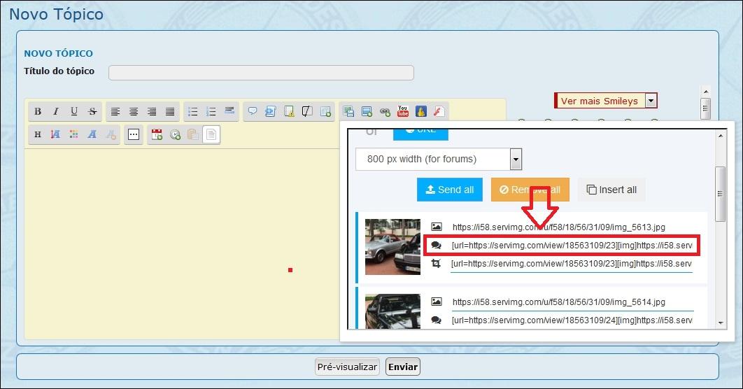 Como inserir imagens e fotos em suas mensagens - Servimg® 6a10