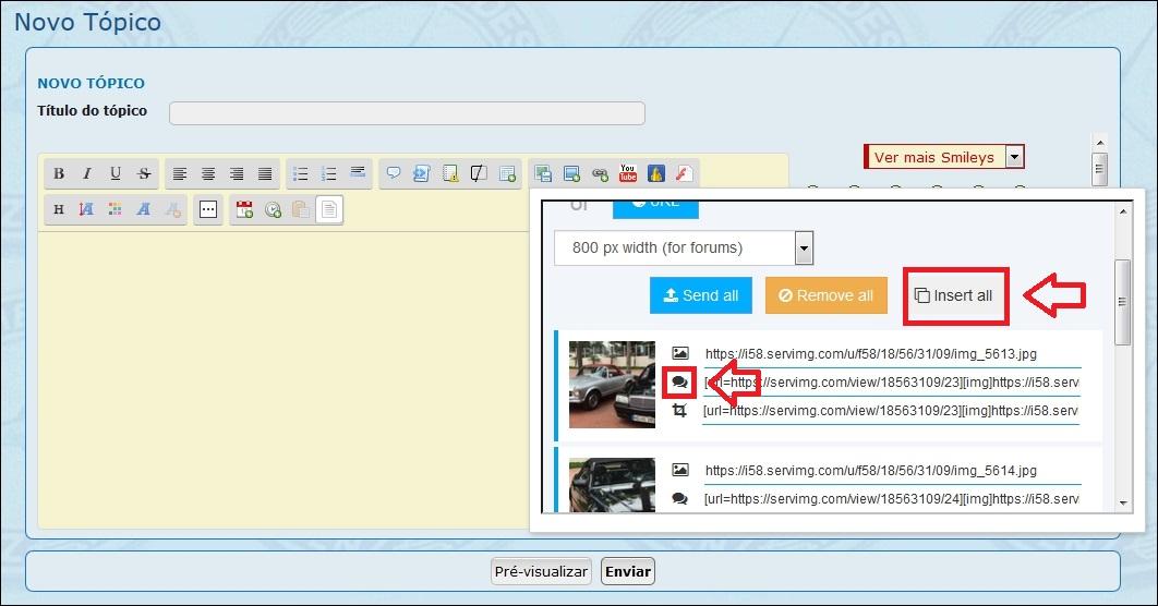 Como inserir imagens e fotos em suas mensagens - Servimg® 710