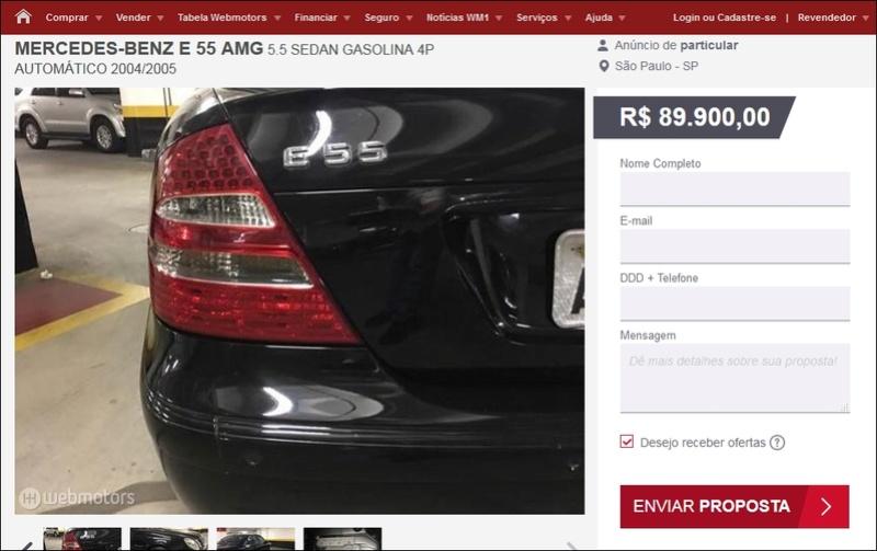 (VENDE-SE) W211 E55 Kompressor AMG 2004/2005 - R$89.000,00 Tela111