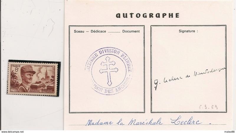 Maison de la 2ème DB PARIS Autogr10