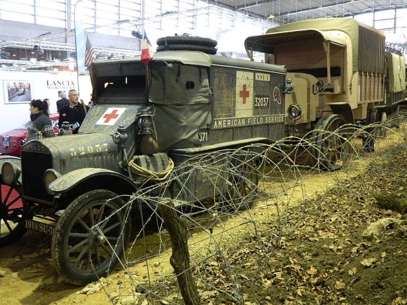CHAR FT-17 & 1914 / 1918 à Rétromobile 2014 Convoi11