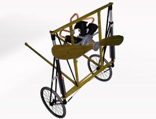 Blériot XI Version Manche - Maquette 1/10 ème AMATI / diffusion Hachette P3d_bl10
