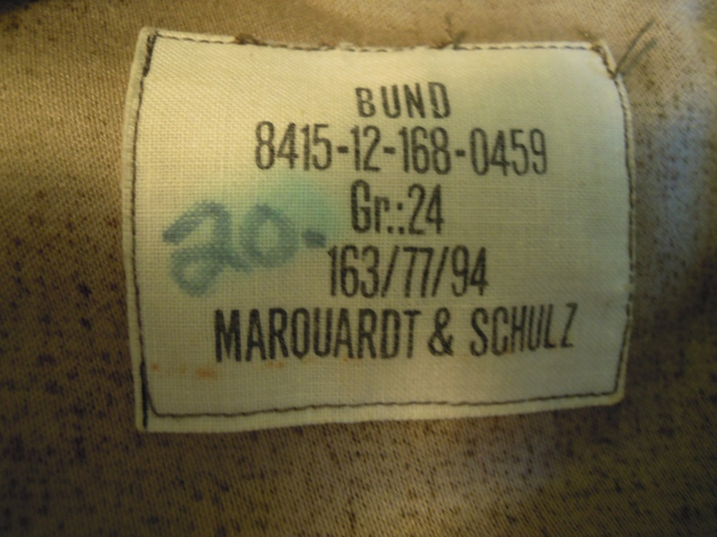 Example of one ,,cut up,, BGS Sumpftarn jacket Dscn1863