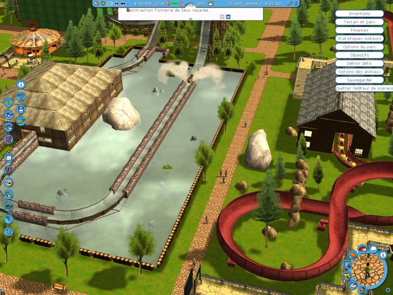 parc asterix pour roller coaster tycoon 3
