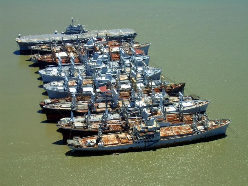 La flotte de réserve - Suisun Bay, Californie - USA Fleet10