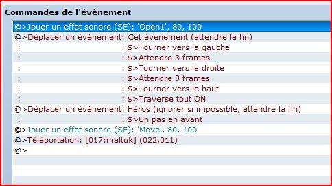 "Event ""porte"" out ou manquement ? [resolu] Event_10"