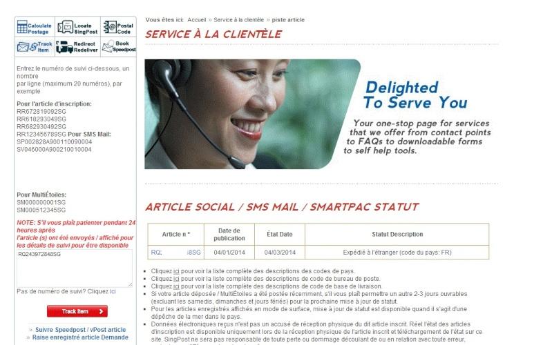 Fasttech et leur site de tracking Captur15