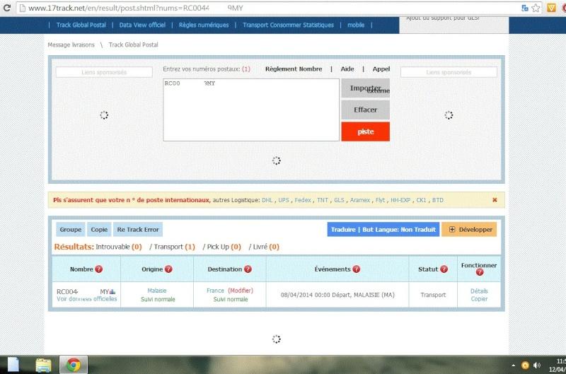 Fasttech et leur site de tracking Captur16