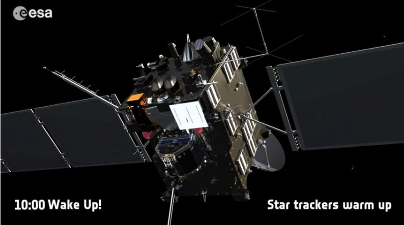 Rosetta : réveil et approche de 67P/Churyumov-Gerasimenko Scree153