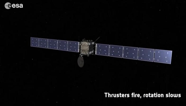 Rosetta : réveil et approche de 67P/Churyumov-Gerasimenko Scree154