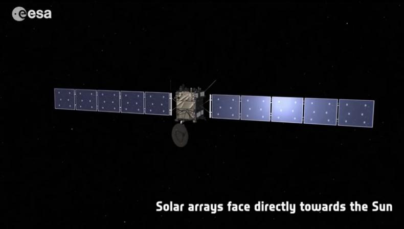 Rosetta : réveil et approche de 67P/Churyumov-Gerasimenko Scree155