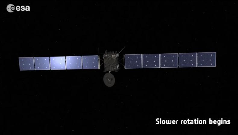 Rosetta : réveil et approche de 67P/Churyumov-Gerasimenko Scree156