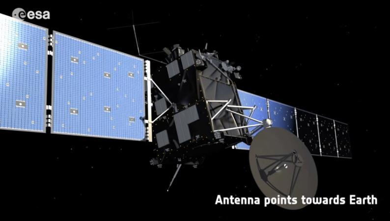 Rosetta : réveil et approche de 67P/Churyumov-Gerasimenko Scree159