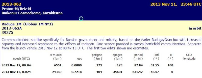 Lancement Proton-M / Radouga-1M - 11 novembre 2013  Screen14