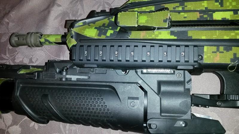 bricolage FN2000 G&G installation  grenade launcher 20170514