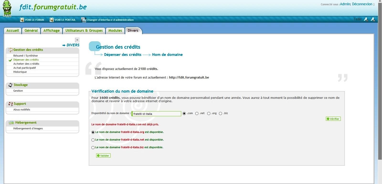 NOM DE DOMAINE WWW.FRATELLI-D-ITALIA.COM Captur12