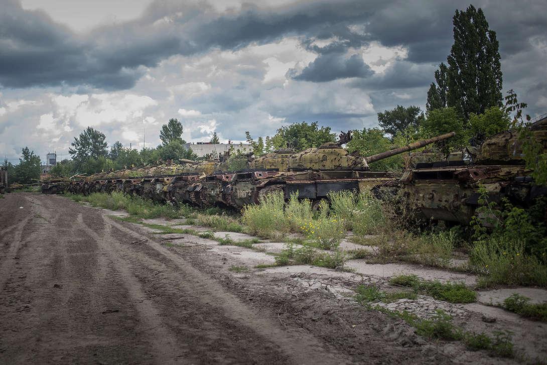 CIMETIERE DE CHARS - Cimetière de chars russes - Kharkov - Ukraine Char10