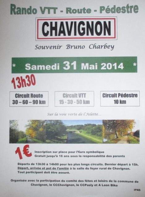 Chavignon souvenir Bruno Charbey le 31/05/2014. Randon12