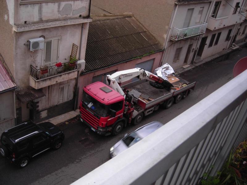 motrice con gru e rimorchio Scania11