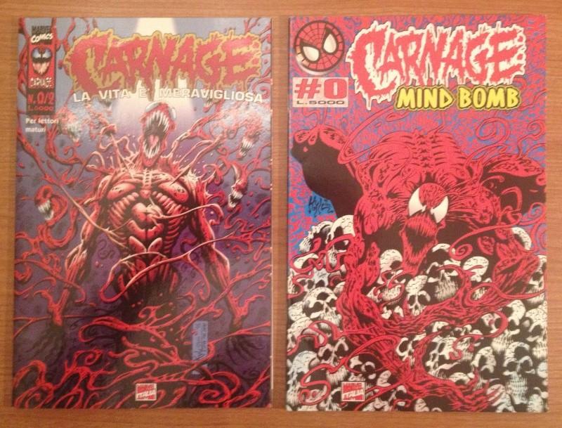 Fumetti rari CARNAGE #0 e N.0/2 (Mind Bomb + La vita è meravigliosa) _5711