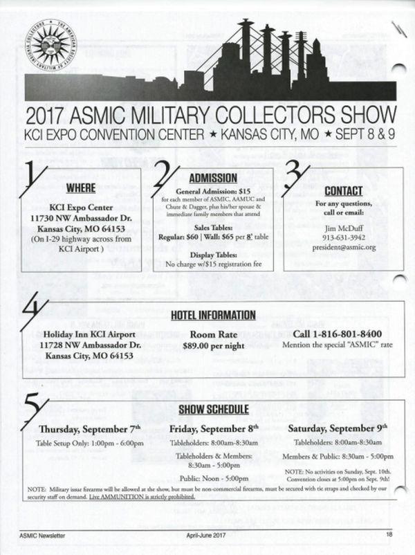 2017 ASMIC MILITARY COLLECTORS SHOW Asmic_10